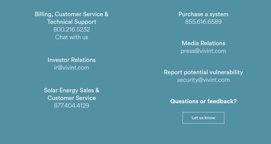 Vivint Customer Support